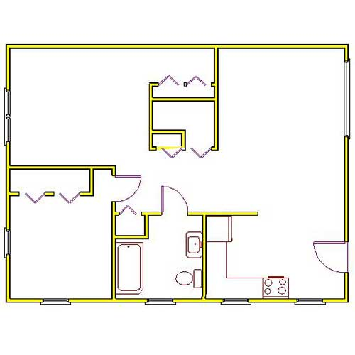 northside manor trwo bedroom floor plan